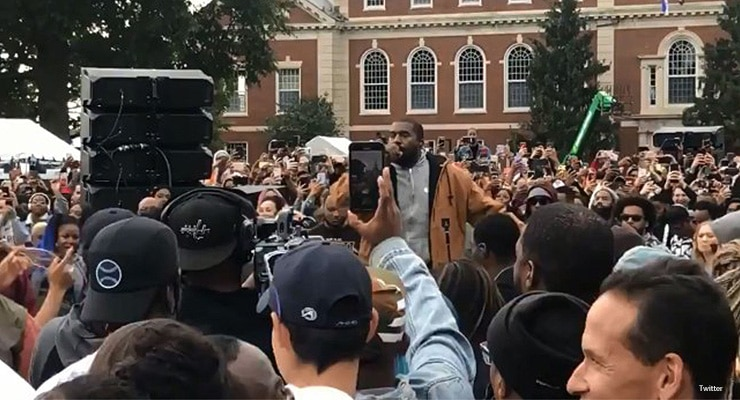 Kanye West Performs at Howard University Homecoming on Saturday, Oct. 12, 2019. (Credit: Twitter)