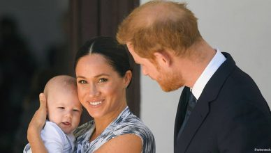 Meghan Markle, Prince Harry and Baby Archie (Credit: Shutterstock)