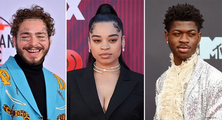 Post Malone, Ella Mai, Lil Nas X pick up American Music Awards nominations. (Credit: Shutterstock)