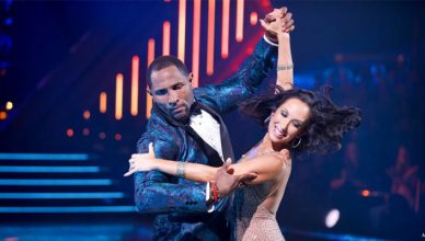 Ray Lewis and Cheryl Burke on DWTS. (Credit: ABC)