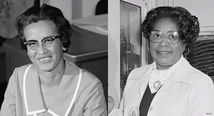 Hidden Figures Katherine Johnson and Mary Jackson (Courtesy NASA)