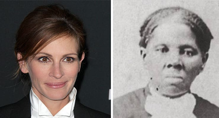 Julia Roberts and Harriet Tubman (Credit: Jean Nelson, Library of Congress)
