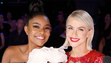 Julianne Hough and Gabrielle Union on America's Got Talent. (Credit: NBC)