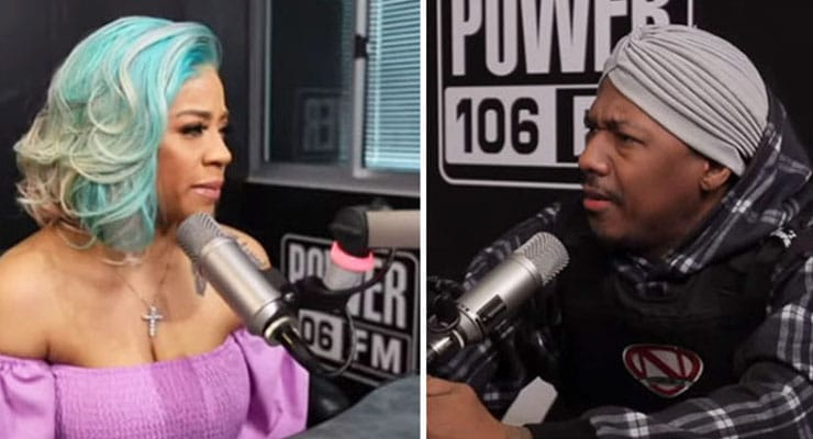 Keyshia Cole and Nick Cannon on Power 106. (Credit: YouTube)