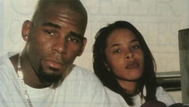 "R. Kelly and Aaliyah shown together on ""Surviving R. Kelly."" (Credit: Lifetime)"