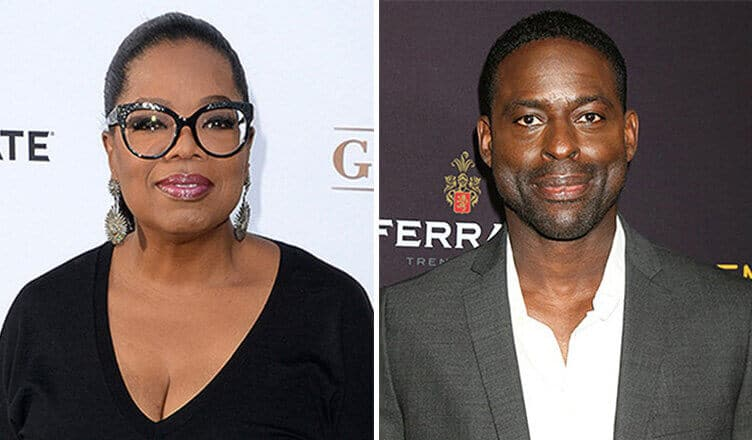 Oprah Winfrey and Sterling K. Brown (Credit: Deposit Photos)