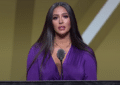 Vanessa Bryant accepts Kobe Bryant's prestigious honor of being inducted into the Naismith Memorial Basketball Hall of Fame on May 15, 2021. (YouTube)